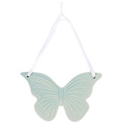 Mint Ceramic Butterfly Hanging Decoration