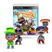 Little Big Planet 3 PS3 Game with Random Around The World Figure