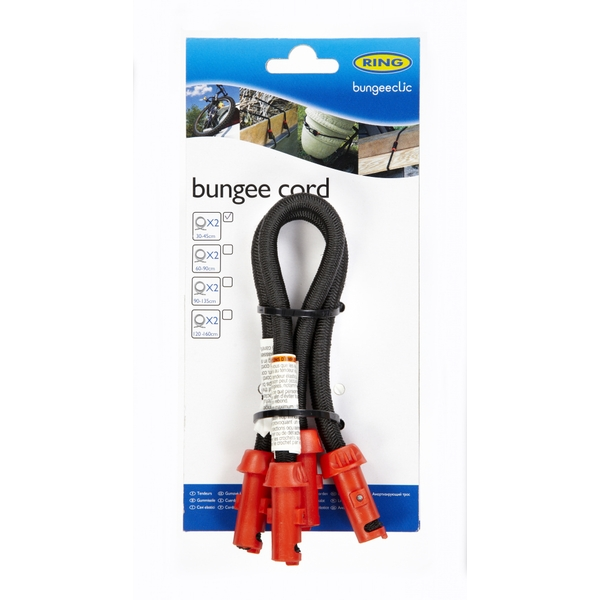 Ring Bungee Clic Cords Twin Pack 30cm