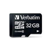 Verbatim 44083 32GB Class 10 Micro SDHC with Adapter