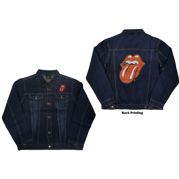 The Rolling Stones - Classic Tongue Unisex X-Large Denim Jacket - Blue