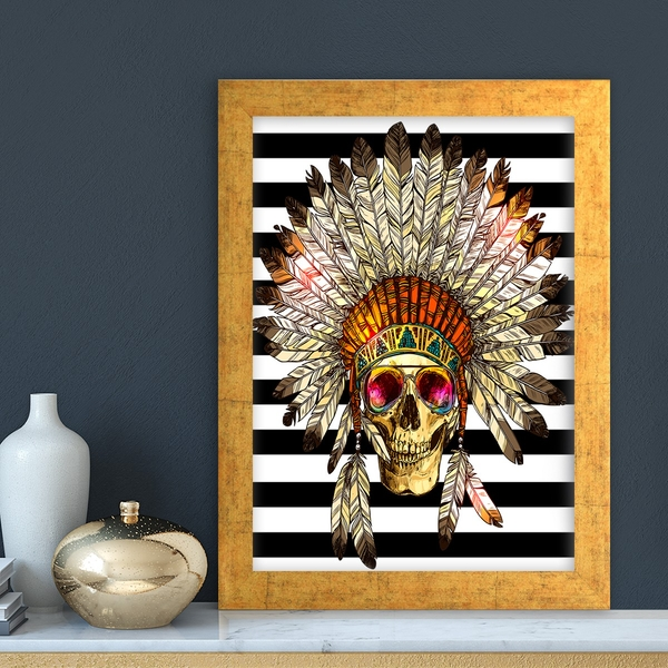AC4475944421 Multicolor Decorative Framed MDF Painting