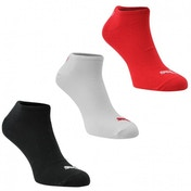 Puma 3 Pack Trainer Socks Red White & Black Size 6-8