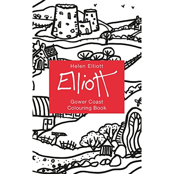 Helen Elliott Concertina Colouring Book: Gower Coast by Graffeg Limited (Hardback, 2017)