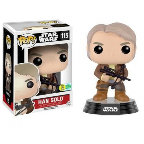 Han Solo with Chewie Bowcaster (Star Wars: The Force Awakens) Exclusive Funko Pop! Vinyl Figure