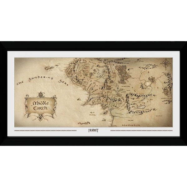 The Hobbit Middle Earth 50 x 100cm Collector Print