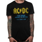 AC/DC - For Those About To Rock Logo Men's XX-Large T-Shirt - Black