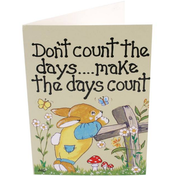 Pack of 6 Don't Count the Days Smiley Cards