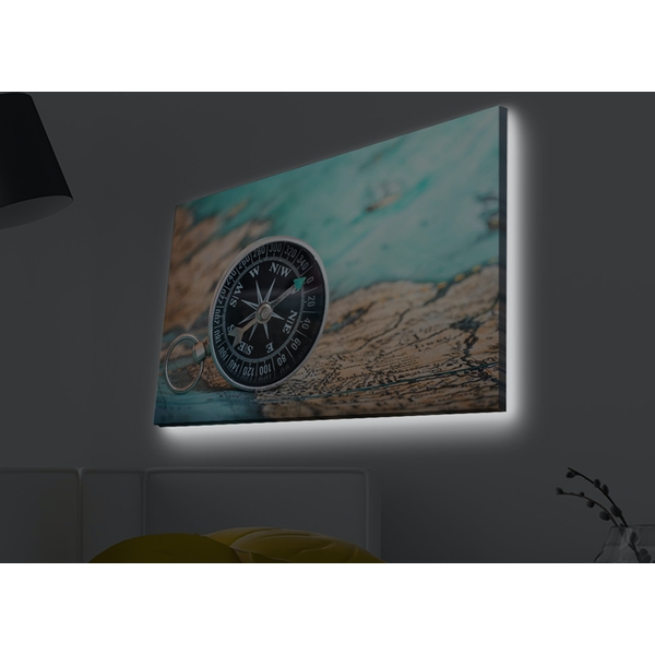 4570MDACT-012 Multicolor Decorative Led Lighted Canvas Painting