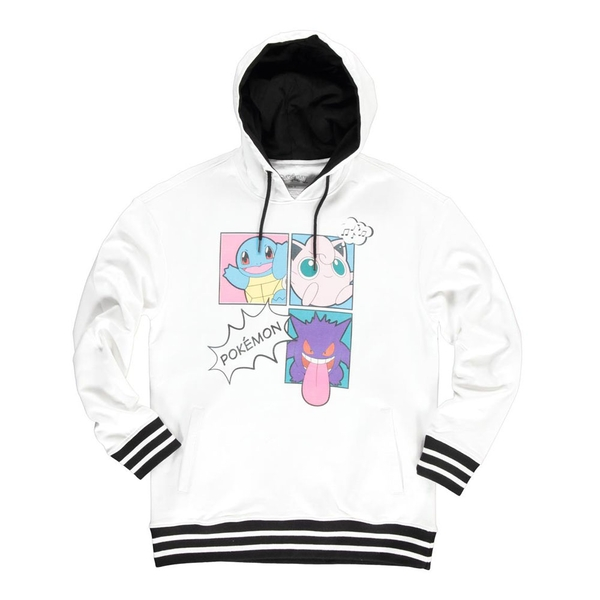 Pokemon - Characters Group PopArt Female XL Hoodie - White/Black