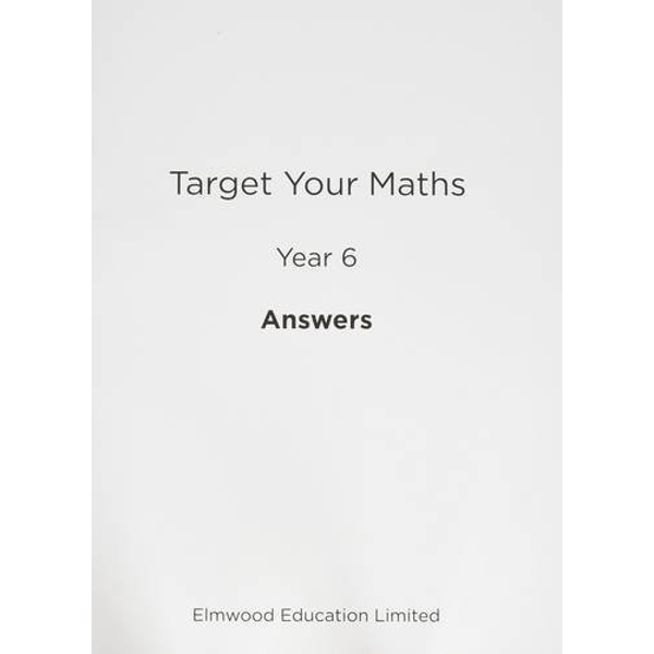 Target Your Maths Year 6 Answer Book: Year 6 by Stephen Pearce (Paperback, 2014)