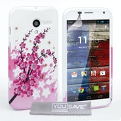 YouSave Accessories Motorola Moto X Floral Bee Gel Case - Pink-White