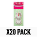 2D Carded Strawberry (Pack Of 20) Unicorn Air Freshener - Image 2