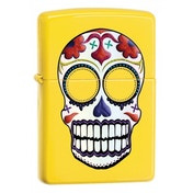 Zippo Day Of The Dead Skull Lemon Windproof Lighter