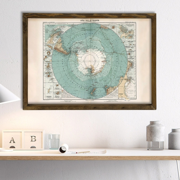Map031 Multicolor Decorative Framed MDF Painting