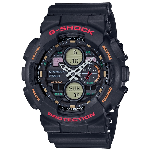 Casio GA-140-1A4ER Oversized G-Shock Watch Black with Red