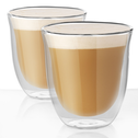 2 Double Walled 190ml Cappuccino Glasses   M&W