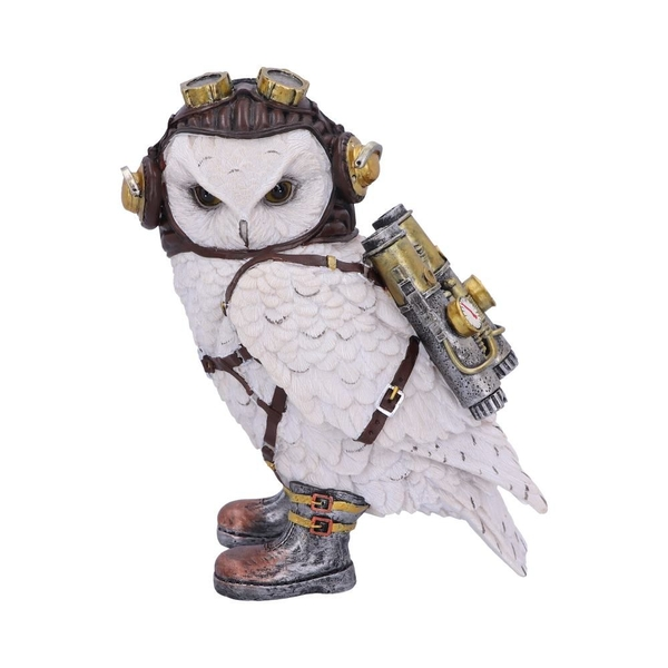 The Aviator Steampunk Owl Figurine