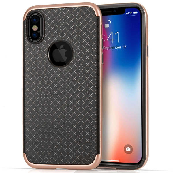 Compare prices with Phone Retailers Comaprison to buy a Apple iPhone X Crosshatch Gel Case - Rose Gold