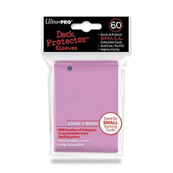 Ultra Pro Pink Small Deck Protectors - 60 Sleeves