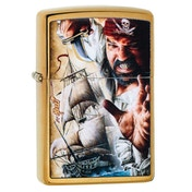 Zippo Mazzi Pirate Ship Brass regular Windproof Lighter