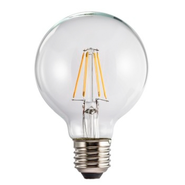 Xavax LED Filament, E27, 470lm replaces 40W globe bulb, warm white