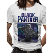 Black Panther Movie - White Logo Image Men's X-Large T-Shirt - White