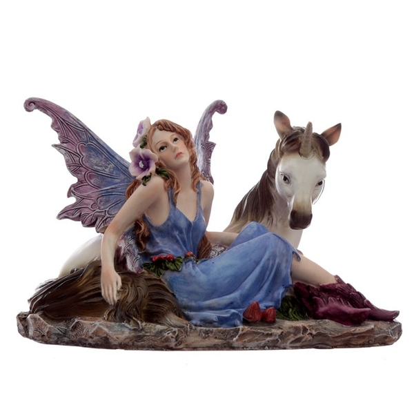 Sapphire Flower Fairy and Unicorn