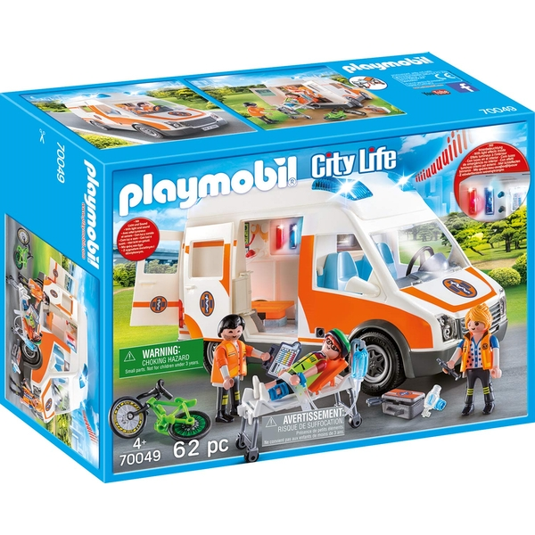 Playmobil City Life Hospital Ambulance with Lights and Sound