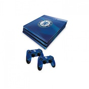 Official Chelsea FC PS4 Pro Console Skin and 2x Controller Skin Combo Pack