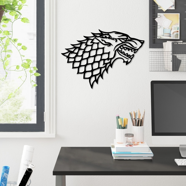 Game Of Thrones Black Decorative Metal Wall Accessory