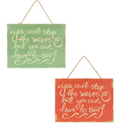 Assorted Hanging Surf Signs