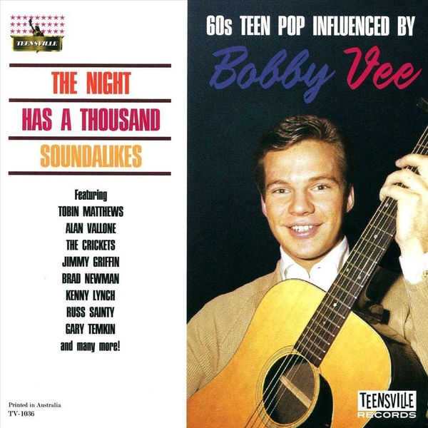 Various - The Night Has A Thousand Soundalikes: 60s Teen Pop Influenced By Bobby Vee CD