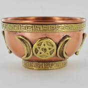 Tripple Moon Copper Bowl (Small)