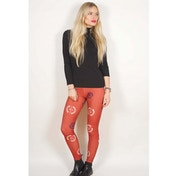 Avenged Sevenfold Deathbat Crest Women's Medium Leggins - Red