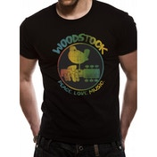 Woodstock - Colour Logo Men's Large T-Shirt - Black