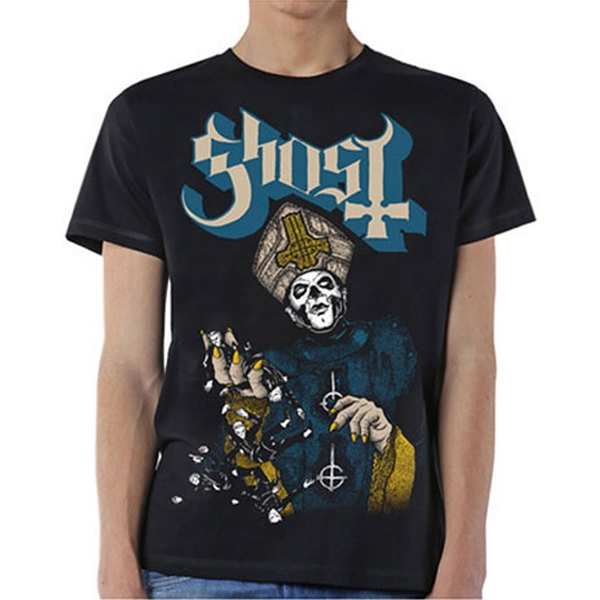 Ghost - Papa of the World Unisex Large T-Shirt - Black