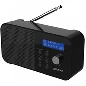 Groov-e GVDR04BK Venice Portable DAB/FM Digital Radio Black UK Plug