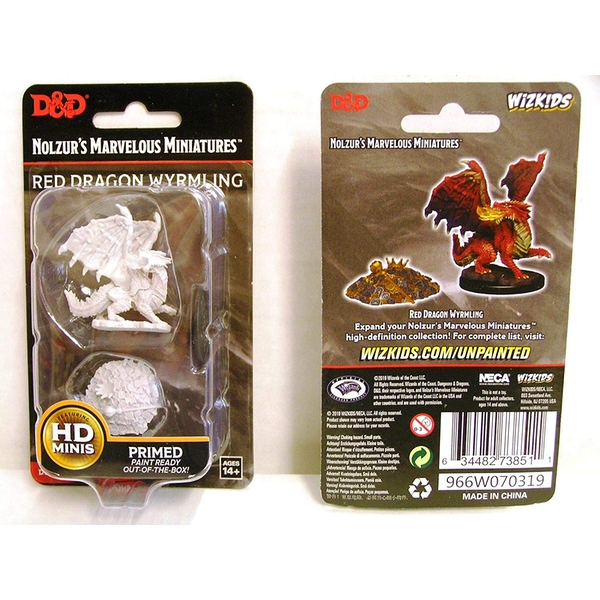 Dungeons & Dragons Nolzur's Marvelous Unpainted Miniatures (W10) Red Dragon Wyrmling