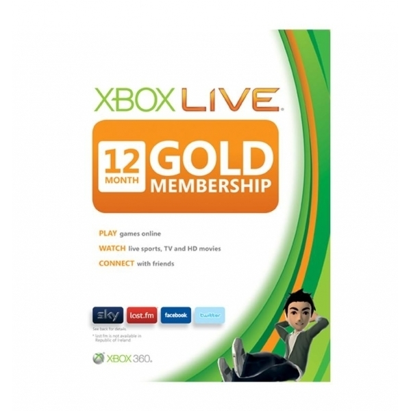 Xbox LIVE Gold 12 Months Membership + 1 Month Card Xbox 360