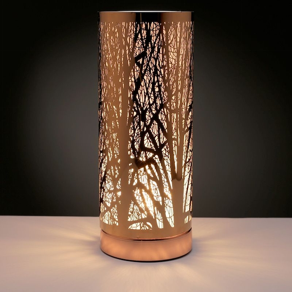 Tree Silhouette Touch Operated Wax Melt Gold Aroma Warmer UK Plug