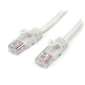 Cat5e patch cable with snagless RJ45 connectors   3m  white