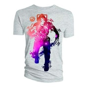 Doctor Who - Cyberman Faces Full Men's X-Large T-Shirt - Grey