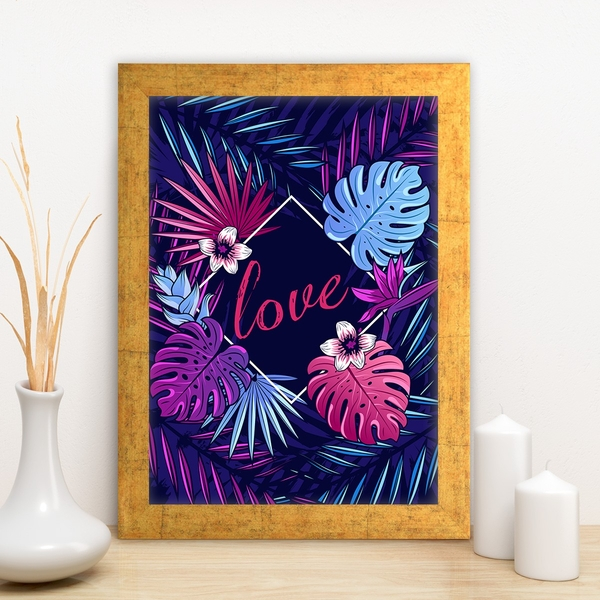 AC10331228592 Multicolor Decorative Framed MDF Painting