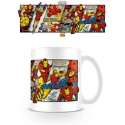 Marvel Retro Iron Man Panels Mug