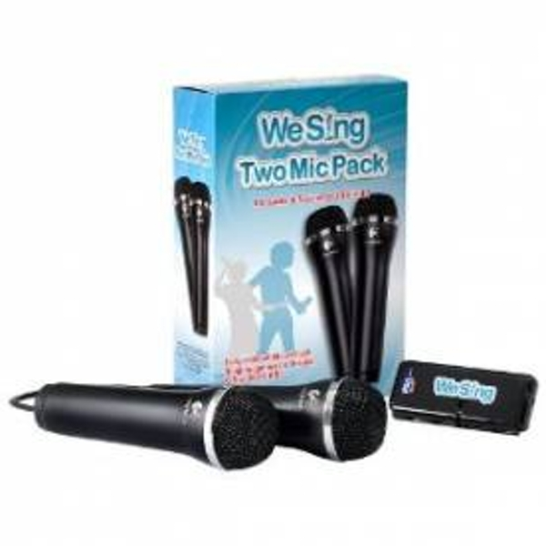 We Sing Two Microphone & USB Hub Pack (game sold separately) Wii