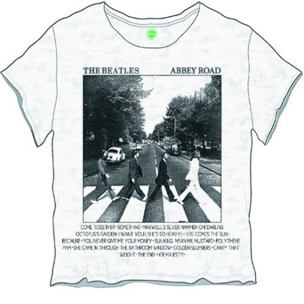 The Beatles - Abbey Road Songs Women's Large T-Shirt - White