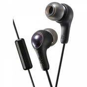 JVC HAFX7MB Gumy Plus In Ear Headphones with Mic & Remote Black