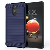 CASEFLEX LG K8 (2018) CARBON ANTI FALL TPU CASE - BLUE