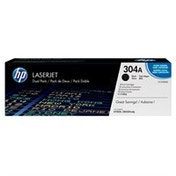 HP CC530A (304A) Toner black, 3.5K pages @ 5% coverage, Pack qty 2